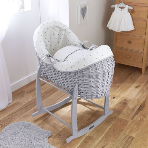 Wicker Wrap Over Pod - Grey Lullaby Hearts